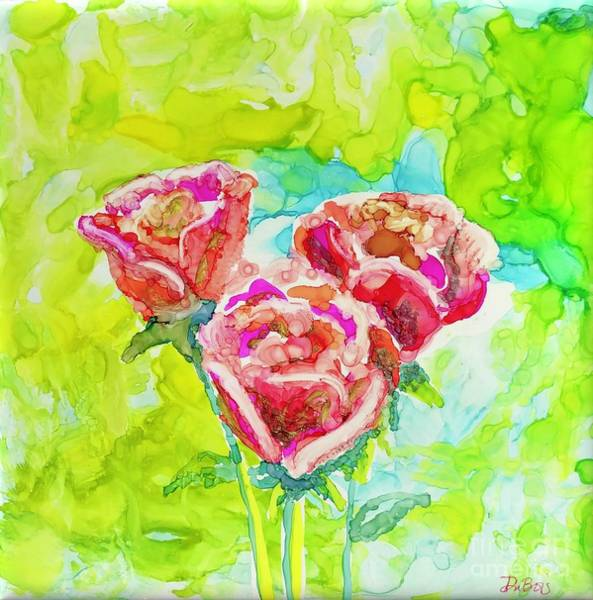 Painting - Trio Of Roses by Lisa DuBois