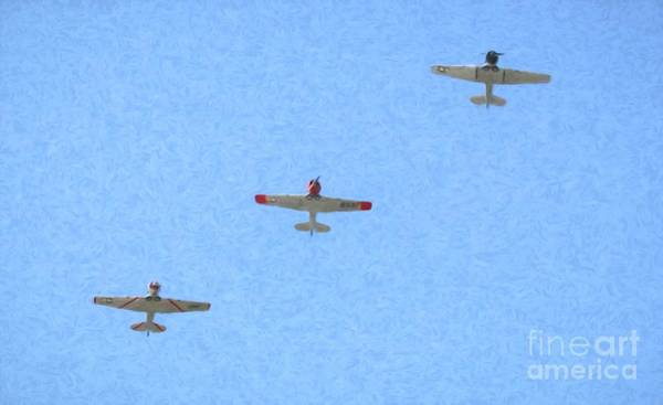 Wall Art - Photograph - Trio Of World War II Planes by Karen Silvestri
