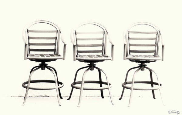 Photograph - Trio Seating Devoid Of Color by Dee Browning