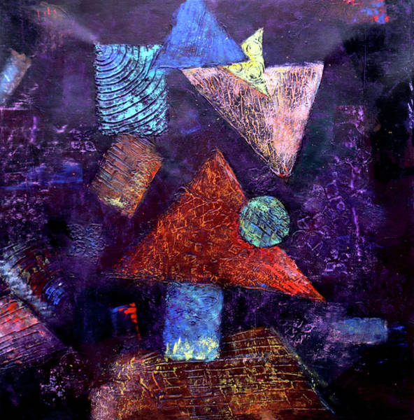 Painting - Trio Triangles  by Arttantra