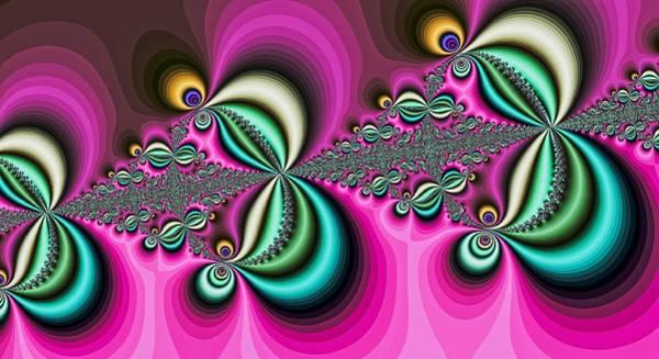 Digital Art - Triple Butterflies Pink by Don Northup