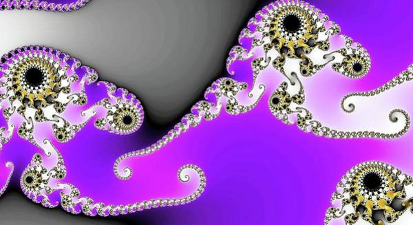 Digital Art - Triple Eye Spiral Fractal Purple by Don Northup