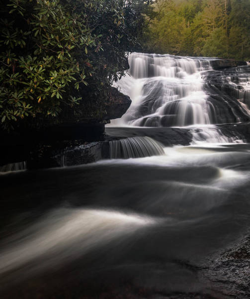 Photograph - Triple Falls Lower Falls by Donnie Whitaker