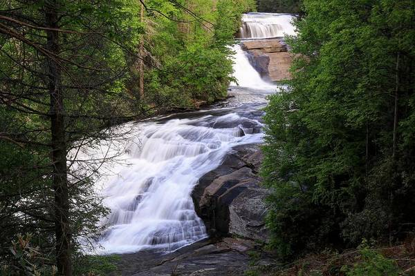 Photograph - Triple Falls North Carolina by Carol Montoya