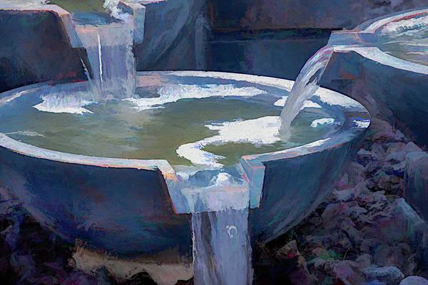 Wall Art - Photograph - Triple Flowing Fountain by Debra Martz