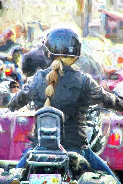 Daytona Bike Week Wall Art - Photograph - Triple Pony Tail by Alice Gipson