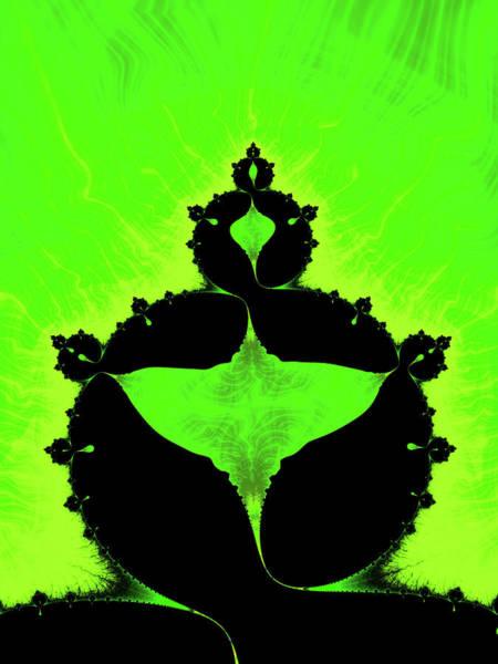 Wall Art - Digital Art - Trippy Mandelbrot Set Green And Black Fractal by Matthias Hauser