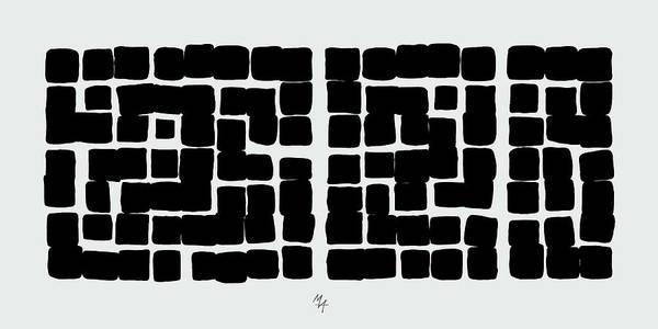Digital Art - Triptych B/w 1 by Attila Meszlenyi