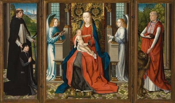 Wall Art - Painting - Triptych Of Madonna And  by Master of The Legend of St  Lucy