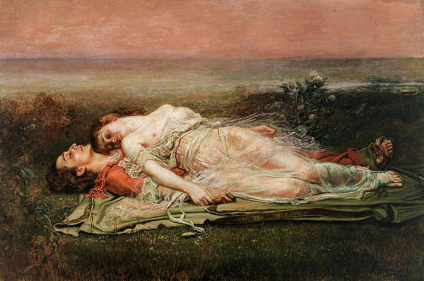 Wall Art - Painting - Tristan And Iseult, 1910 by Rogelio de Egusquiza