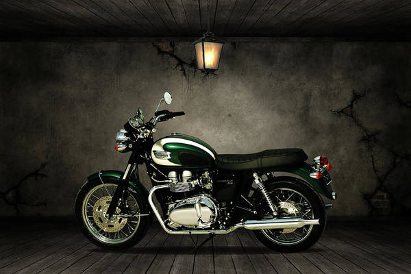 Wall Art - Mixed Media - Triumph Bonneville T100 Old Room by Smart Aviation