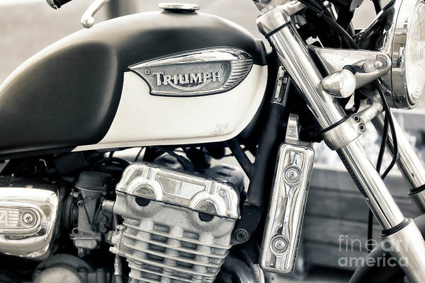 Photograph - Triumph Motorcycle In Marseille by John Rizzuto
