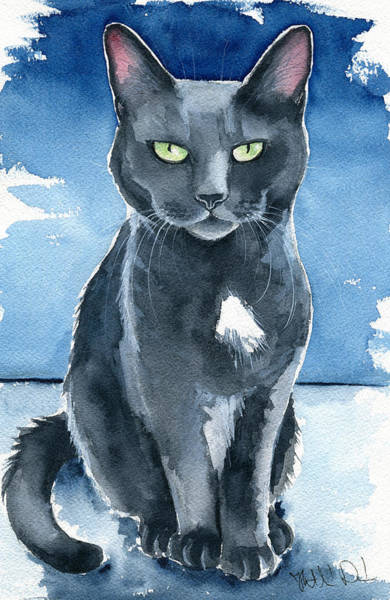 Painting - Trixie Cat Painting by Dora Hathazi Mendes