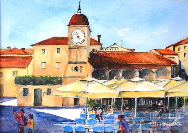 Painting - Trogir, Croatia by Betty M M Wong