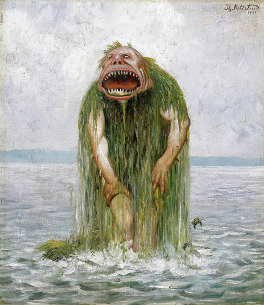 Ugly Painting - Troll by Theodor Kittelsen