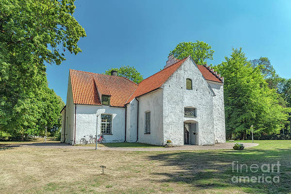 Wall Art - Photograph - Trolle Ljungby White Church by Antony McAulay
