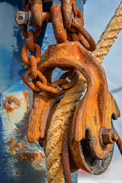Wall Art - Photograph - Troller Pulley Details by Susan Candelario