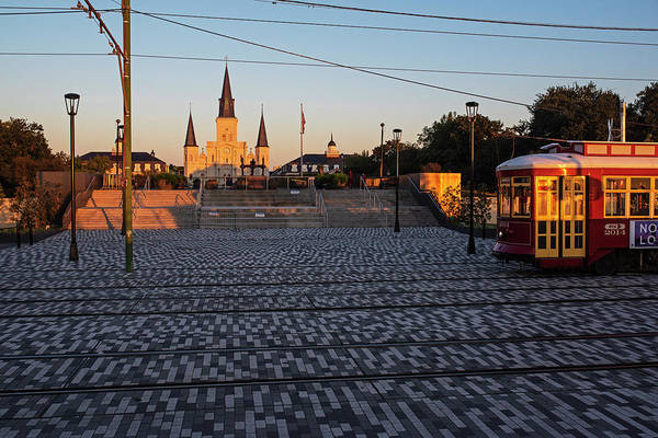 Photograph - Trolley Tracks On The New Orleans Waterfront Jackson Square by Toby McGuire