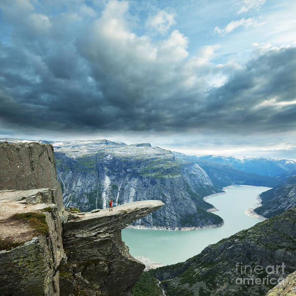 Fjord Photograph - Trolltunga In Norway by Galyna Andrushko