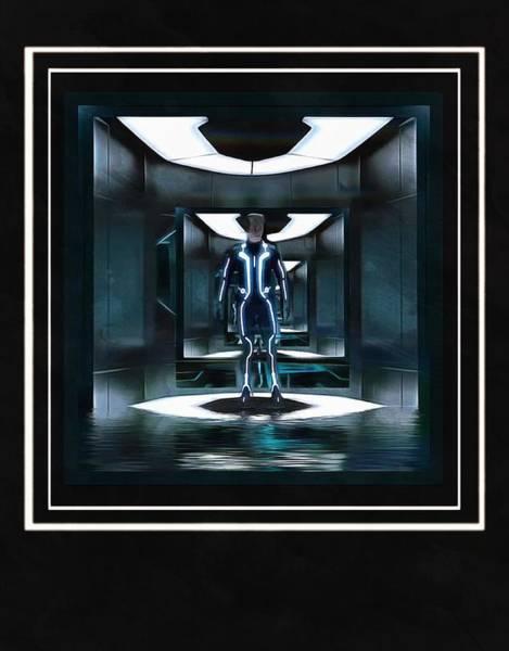 Digital Art - Tron Polaroid by Mario Carini