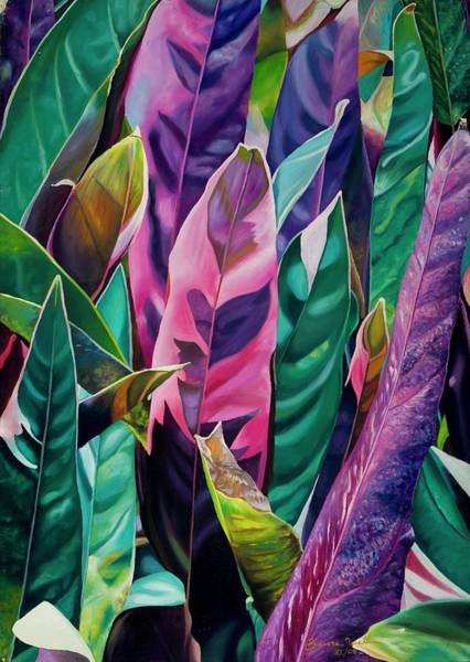 21st Painting - Tropic, 2005 Oil On Canvas by Carlos Zamora