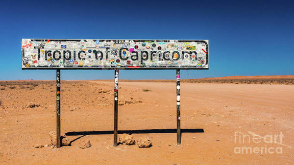 Photograph - Tropic Of Capricorn - In The Middle Of Nowhere by Lyl Dil Creations