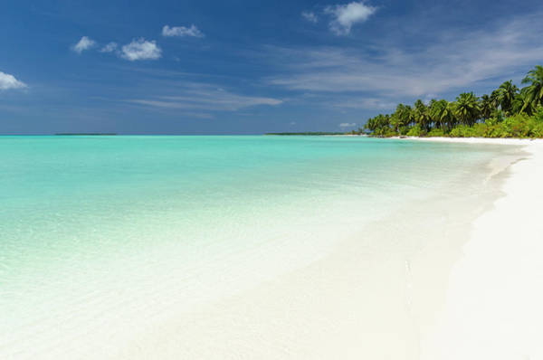 Atoll Photograph - Tropical Atoll Lagoon And Beach by Pete Atkinson