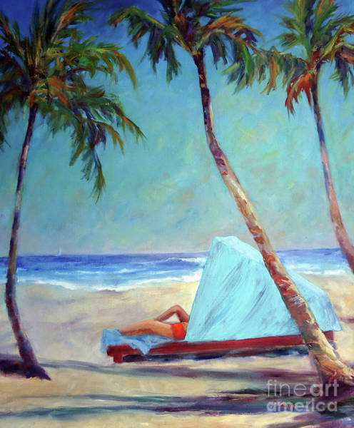 Painting - Tropical Beach Cabana by Carolyn Jarvis