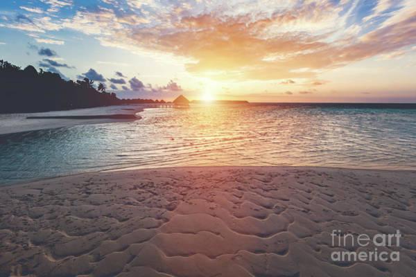 Wall Art - Photograph - Tropical Beach During Sunset On An Island. by Michal Bednarek