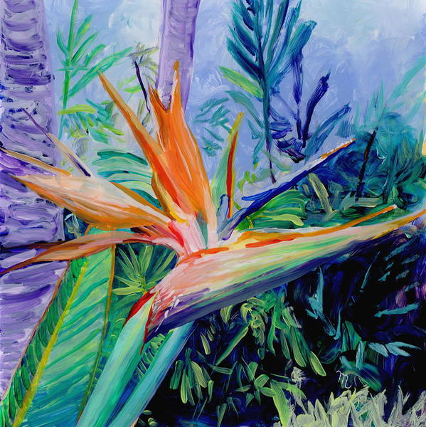 Painting - Tropical Bird Of Paradise by Marionette Taboniar