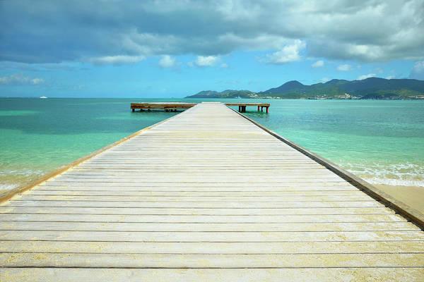 Photograph - Tropical Caribbean Dock - St. Maarten by Luke Moore