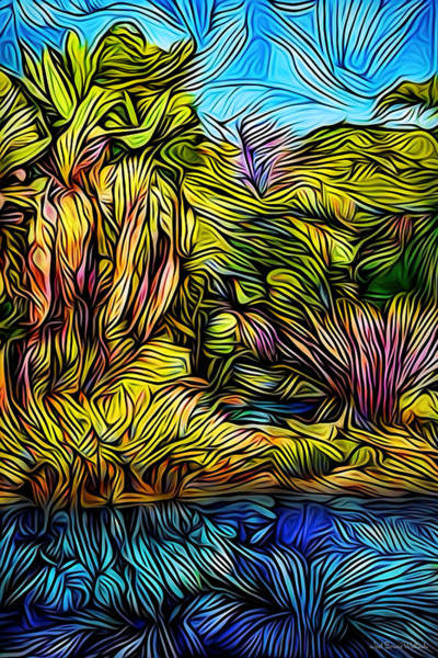 Digital Art - Tropical Dream Pond by Joel Bruce Wallach