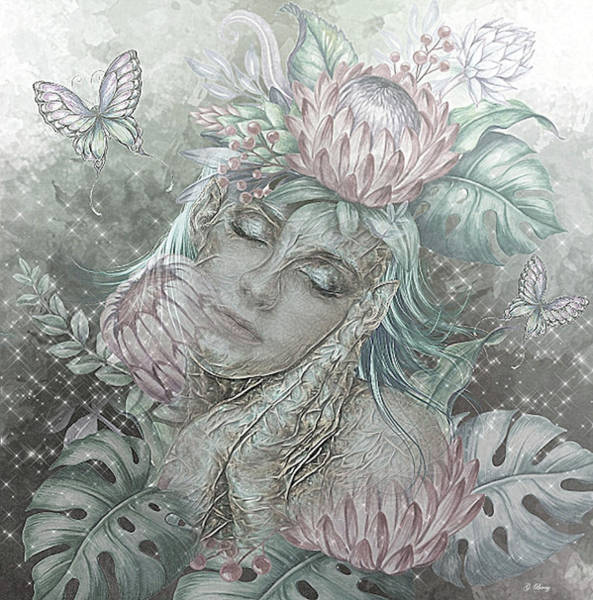 Wall Art - Mixed Media - Tropical Exotic Elf by G Berry