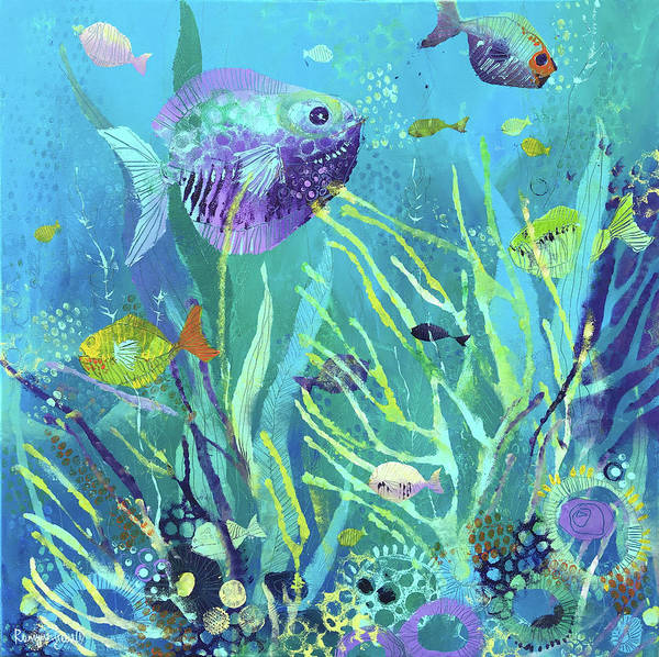 Image result for tropical fish tank painting