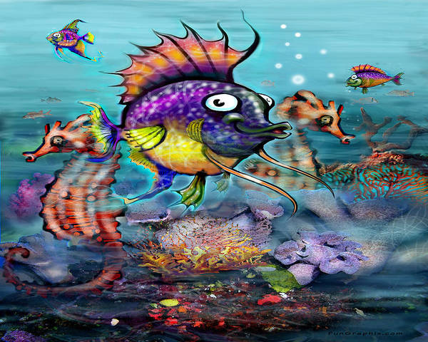 Digital Art - Tropical Fish by Kevin Middleton