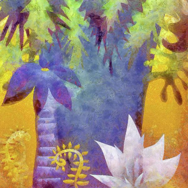 Grass Tree Digital Art - Tropical Forest by Kalistratova