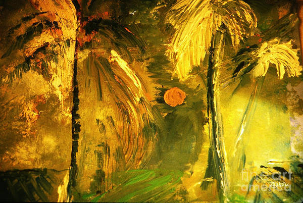 Wall Art - Painting - Tropical Gold by Zsanan Studio