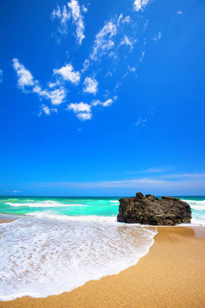 Wall Art - Photograph - Tropical Golden Sand Beach In The by Apomares