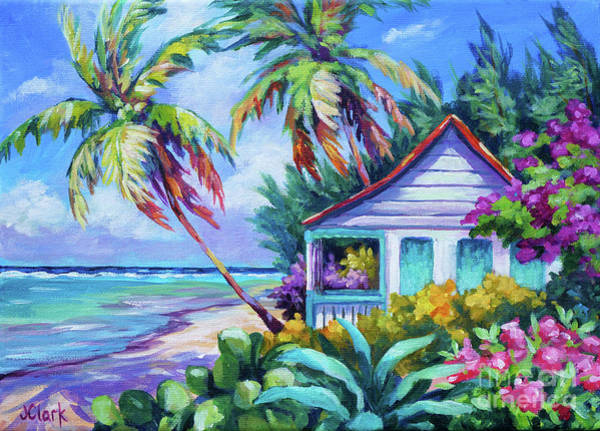 Brac Painting - Tropical Island Cottage by John Clark