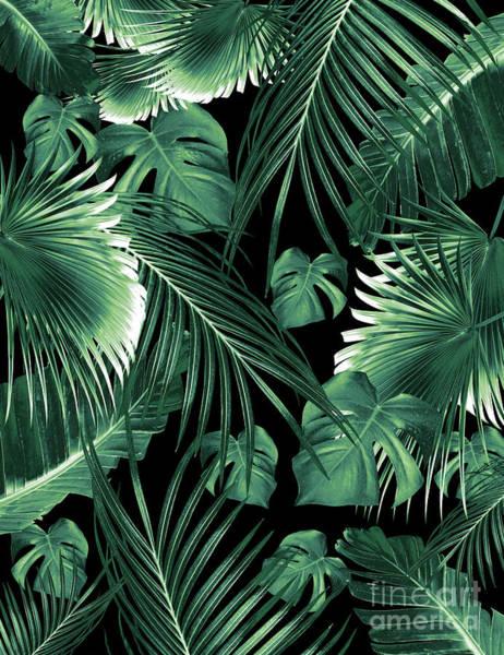 Banana Leaf Mixed Media - Tropical Jungle Leaves Dream #6 #tropical #decor #art  by Anitas and Bellas Art