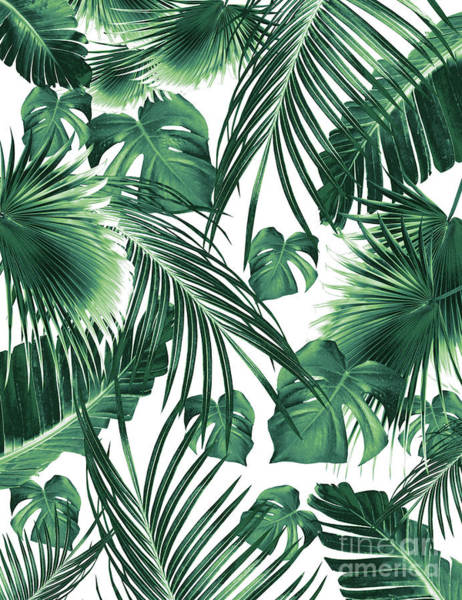 Banana Leaf Mixed Media - Tropical Jungle Leaves Dream #7 #tropical #decor #art by Anitas and Bellas Art