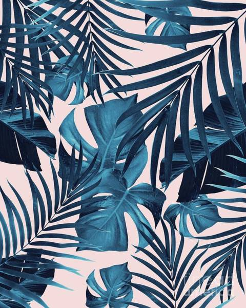 Banana Leaf Mixed Media - Tropical Jungle Leaves Pattern #6 #tropical #decor #art  by Anitas and Bellas Art