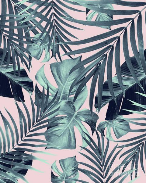 Banana Leaf Mixed Media - Tropical Jungle Leaves Pattern #8 #tropical #decor #art by Anitas and Bellas Art