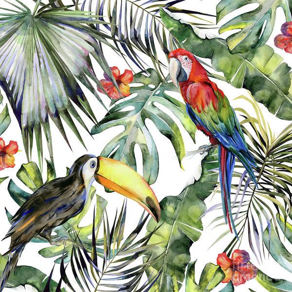 Wall Art - Painting - Tropical Jungle by Magic Dreams