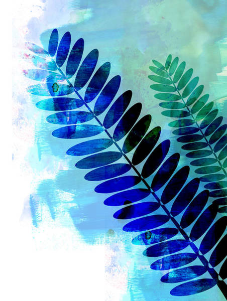 Wall Art - Mixed Media - Tropical Leaf Watercolor 3 by Naxart Studio
