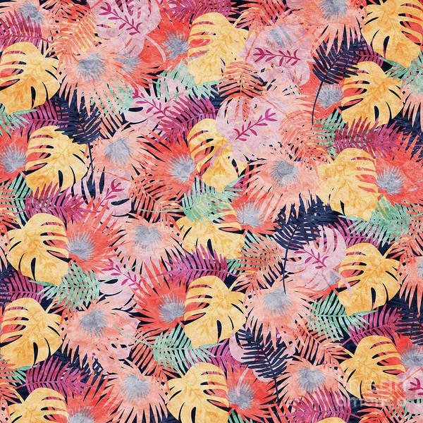 Wallpaper Mixed Media - Tropical Leaves by Asad Ponir