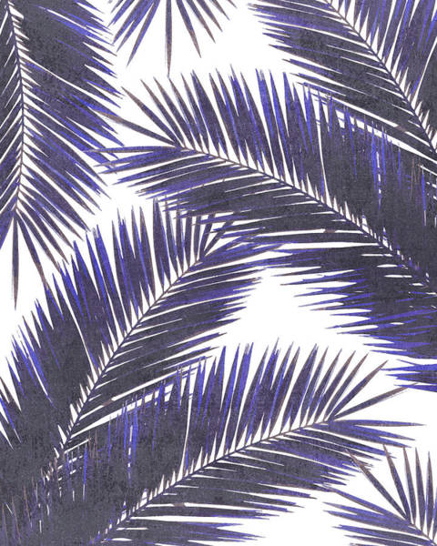 Greenery Mixed Media - Tropical Palm Leaf Pattern 7 - Tropical Wall Art - Summer Vibes - Modern, Minimal - Purple, Violet by Studio Grafiikka