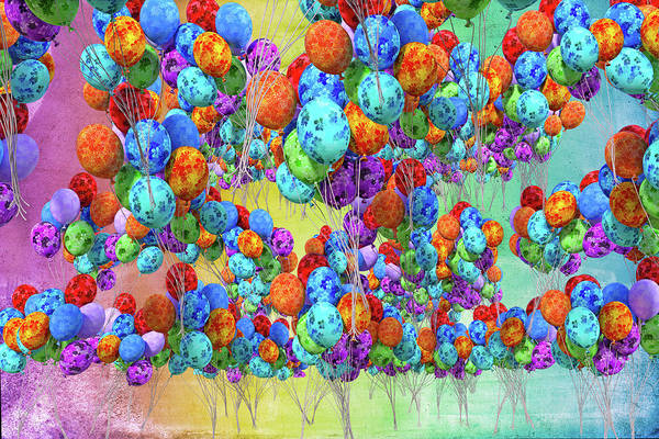 Wall Art - Digital Art - Tropical Print Balloons by Betsy Knapp