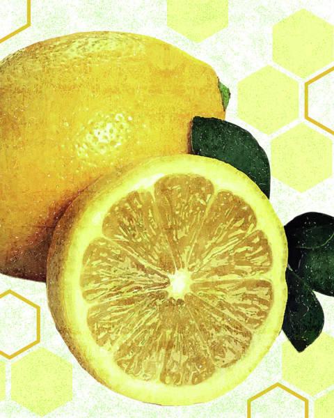 Lime Mixed Media - Tropical Print - Lemon - Fruit - Yellow, Green - Modern Wall Art Print - Tropical Poster by Studio Grafiikka