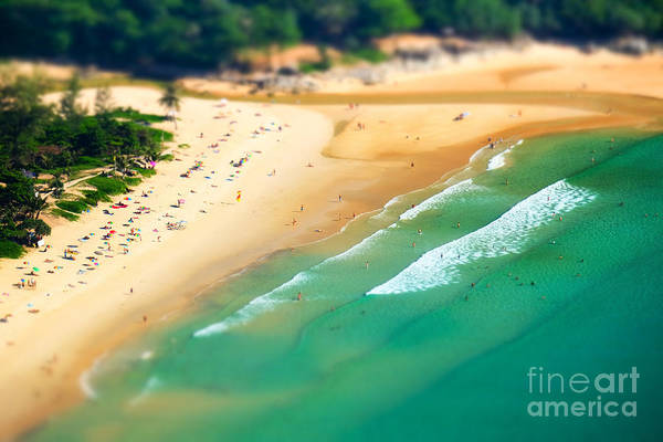 Wall Art - Photograph - Tropical Sandy Beach Landscape From by Perfect Lazybones